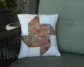 Shell Pinwheel Quilted Pillow Cover