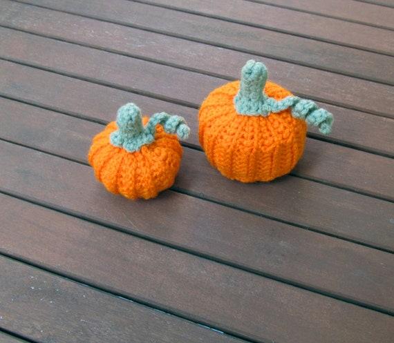 Set of Decorative Crochet Pumpkins, fall decor