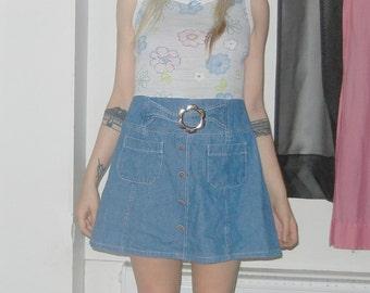 ON SALE - Denim babydoll 90s grunge dress