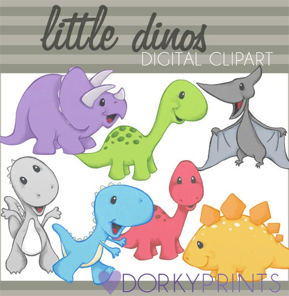 Dinosaur Clipart -Personal and Limited Commercial Use- Dino Clip art