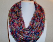 Extremely Soft Colorful Chain Necklace Infinity Scarf - Neck Warmer