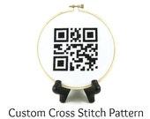 Custom QR Code Cross Stitch PATTERN