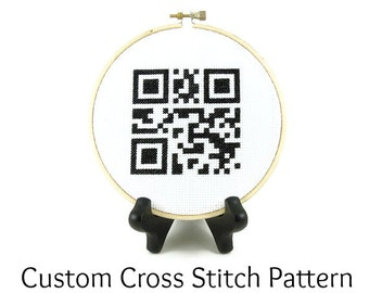 Custom QR Code Cross Stitch PATTERN