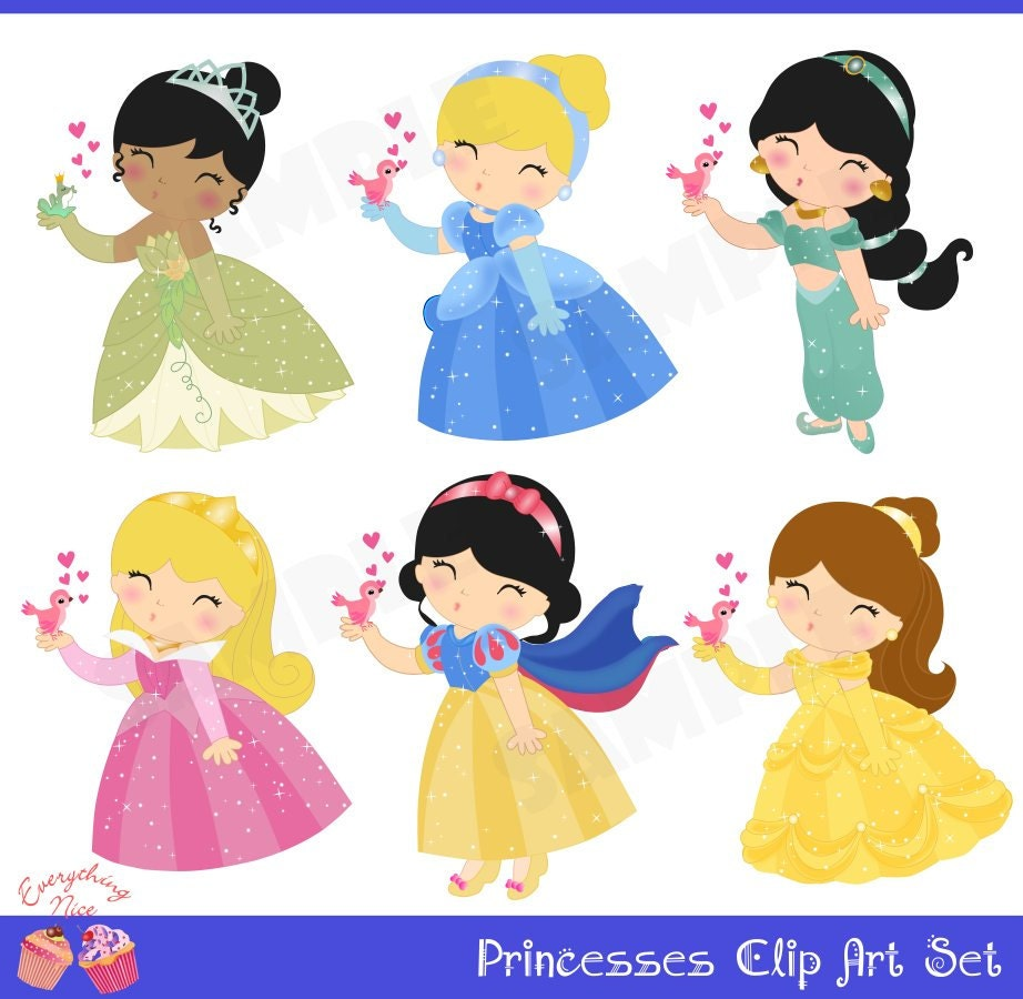 Princesses Clip Art Set by 1EverythingNice on Etsy