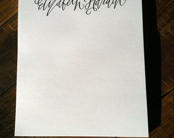 Custom Calligraphy Personalized From the Desk Of Notepad