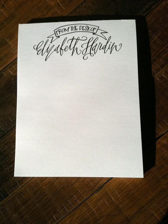 Items Similar To Custom Calligraphy Personalized From The