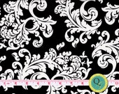 Designer Fabric By the Yard Black and White Elegant Scroll Fabric Modern Fabric Black Fabric Bold fabric Black and White fabric