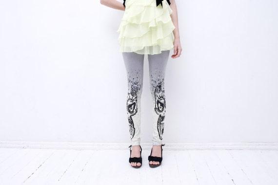 Soft gray  tribal animal print leggings