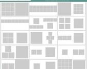 10x10 Instagram Square Album template, 15 double page spreads, photographer square album, square photo album, iphone instagram album