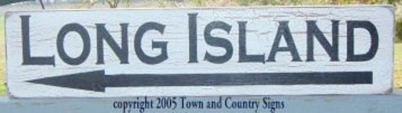 Long Island shabby beach sign, beach sign, nautical sign