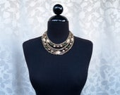 Multi-Strand Vintage Metal and Bead Necklace
