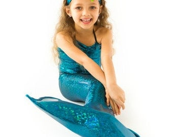 Blue Mermaid Tail for Girls