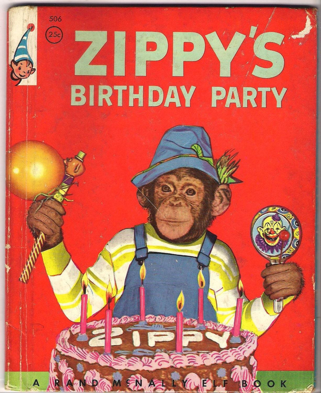 1955 Zippys Birthday Party Elf Book By Artsefrtse On Etsy