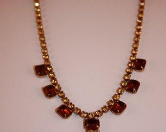 Vintage Rhinestone Necklace 1950