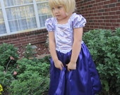 Rapunzel Inspired Satin Princess Costume Dress