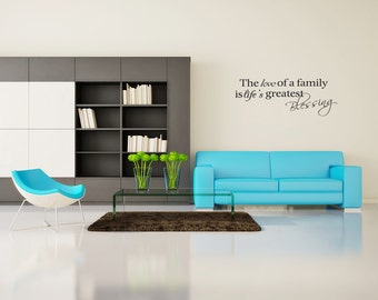 Family Blessing Vinyl Wall Decal Quotes Home Sticker (v167)