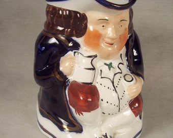 Toby Pitcher LARGE Allertons Revolutionary Soldier Ceramic Figural