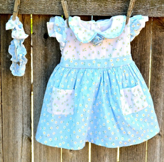 Vintage Baby Dress Pinafore Size 12 to 18 Months