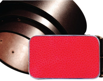 Red Sand Magnetic Belt Buckle, Interchangeable Magnetic Metal Belt Buckle