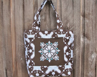 Impressions Machine Embroidered All Season Handbag Tote 6 Pockets Ty Pennington Home Dec Impressions Fabric Snowflake
