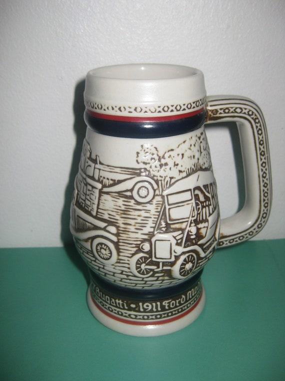 Amazing Vintage Avon Beer Stein, 3D  cars Mug, Beer Stein, Avon beer steins, Avon collectibles, Avon mug, Avon Stein, Avon glass,