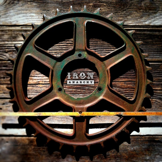 Cast Iron Wheels And Gears : Large antique industrial gear vintage cast iron by ironanarchy