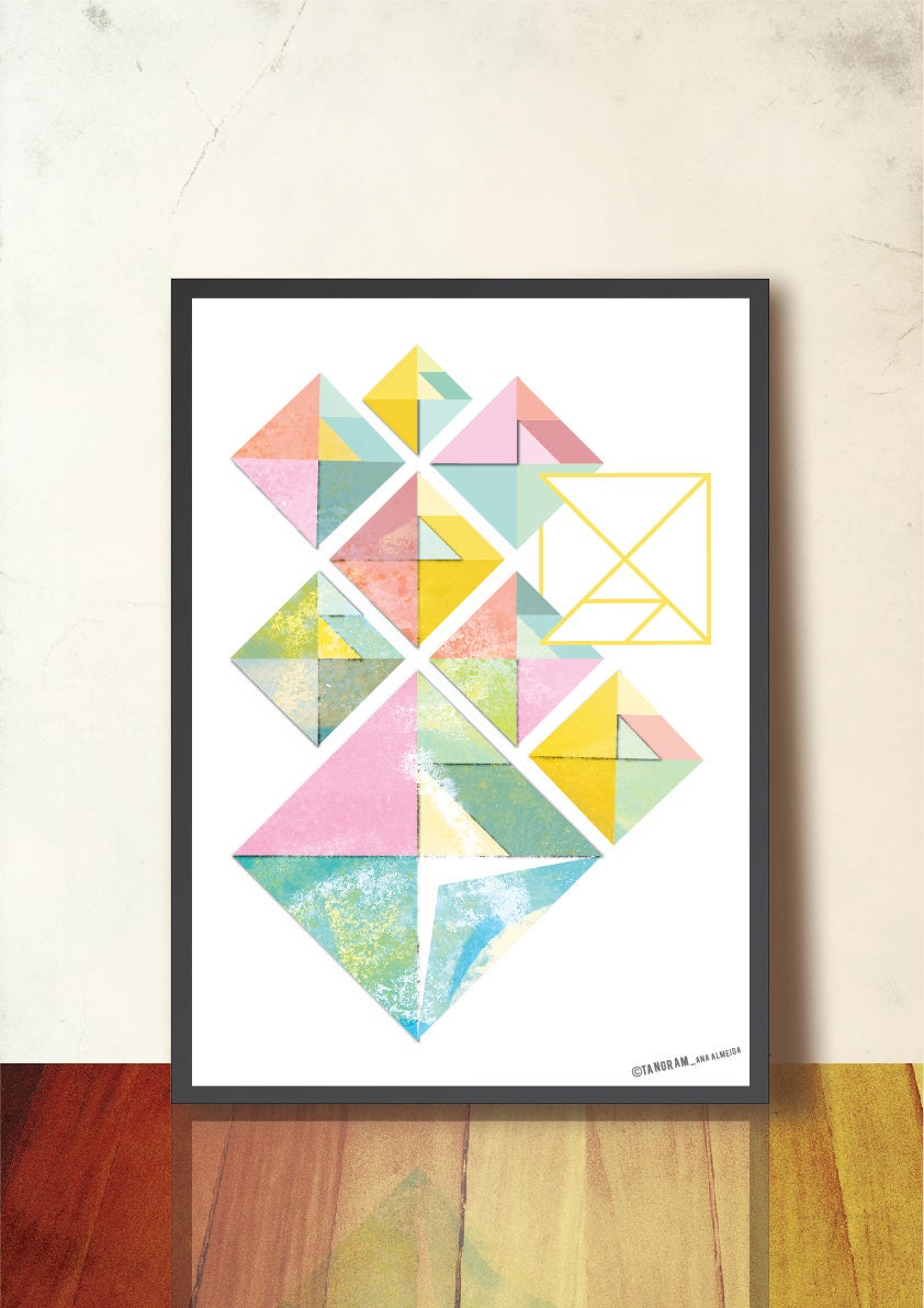 geometric art print spring abstract wall art a3 geometric