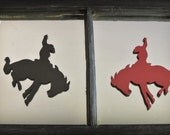 Paper Bronc Rider Tags - Set of 10
