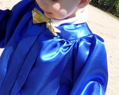 6 Colors- Baby Graduation Cap and Gown/Robe Outfit for Newborn, Infant & Toddler (0 - 5T) Black, Blue, Navy, Red, Pink, Silver