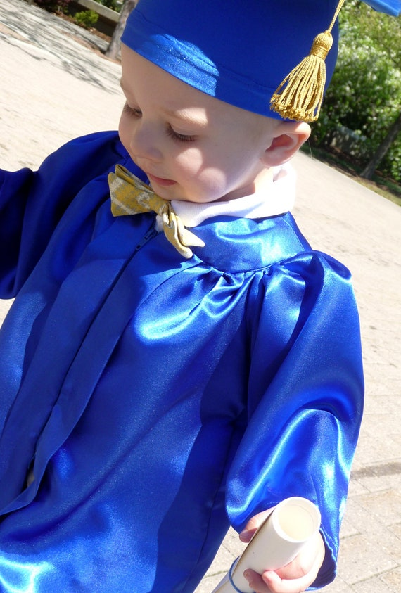 Dark Blue Graduation Cap And Gown