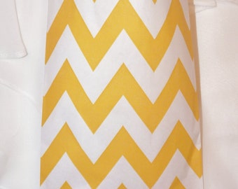 CHEVRON Yellow Stripe Party Favor Bags- 75 Candy Buffet, Wedding, Baby Shower. Treat Bags