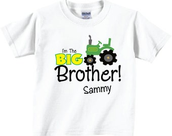 I'm the Big Brother Tractor T-shirts Tees