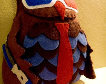 Doctor Who Tenth Doctor Inspired Owl Plush