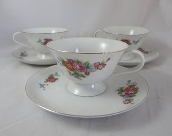 1940s Antique Vintage SGK Occupied Japan  Teacup  and Saucer - 3 Available - Nice Japanese tea cup