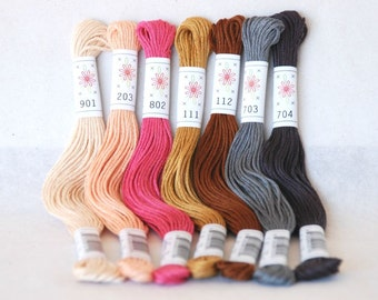 "Embroidery Floss ""Portrait Pallete"" - 7 Skeins Pack - Embroidery Thread by Sublime Floss"
