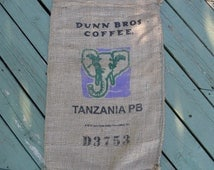 Dunn Brothers Tanzania Burlap Coffee Bag/Sack.   For home decor, weddings, crafting, gardening...
