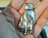 Vintage Sterling Cat with Attitude