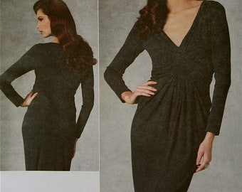 Dress by Michael Kors Vogue American Designer Pattern 1191  Uncut Sizes 4-6-8-10  Bust  29.5-30.5-31.5-32.5""