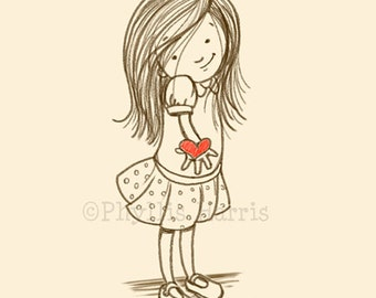 Childrens Wall Art Print - I'll Give You My Heart - Children's room decor