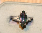 MYSTIC TOPAZ MARQUISE 7X14mm ring set in silver size5