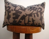 Landslide - Double Sided Pillow Cover - Brown