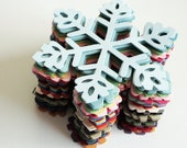 Large snowflakes paper diecuts - your color choice