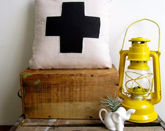 Swiss Cross Pillow Cover- Small