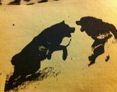 WOLVES FIGHTING mini patch