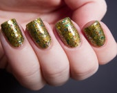 CLEARANCE Pack of Freaks Nail Polish - epic glittery golden green