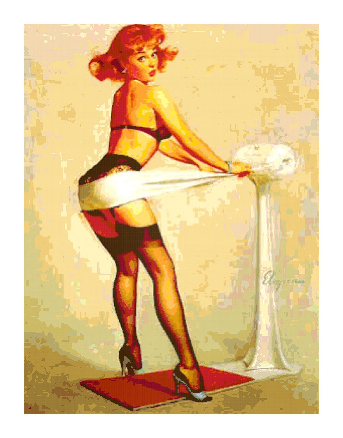 Image result for vintage pin up exercise art