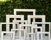 Shabby Chic Frame Set, Set of 12, Wedding Frames, Ornate Frames, Baroque,Antique White, Shabby Chic, Distressed Frame,#no114 (Los Angeles)