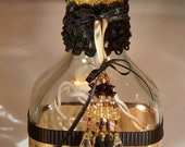 Recycled Bottle Lamp with Chic French Style - Eiffel Tower