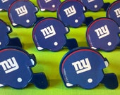 24 New York Giants NFL helmet cupcake rings picks cake toppers, football fan birthday, tailgate, fall sports super bowl, team bachelor