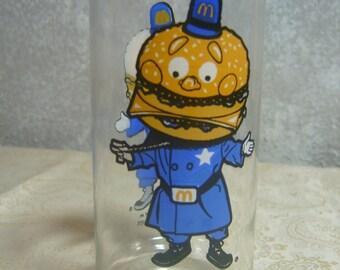 McDonald's Collectible Glass featuring Big Mac.
